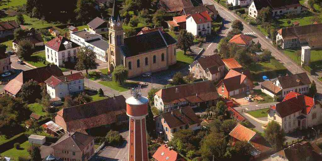 Montreux vieux commune du haut rhin alsace